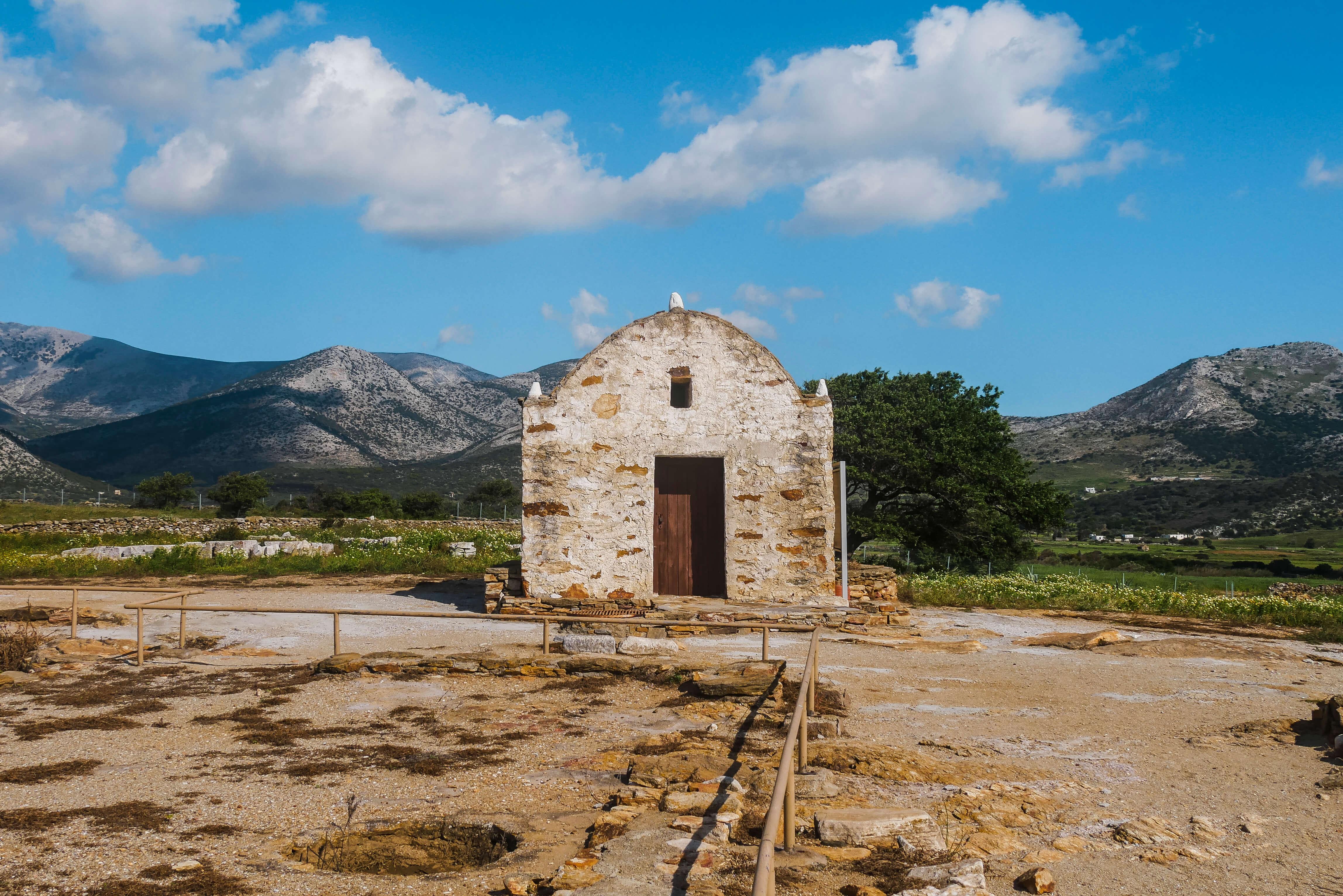 Chapelle du Temple de Demeter, Naxos, Grèce