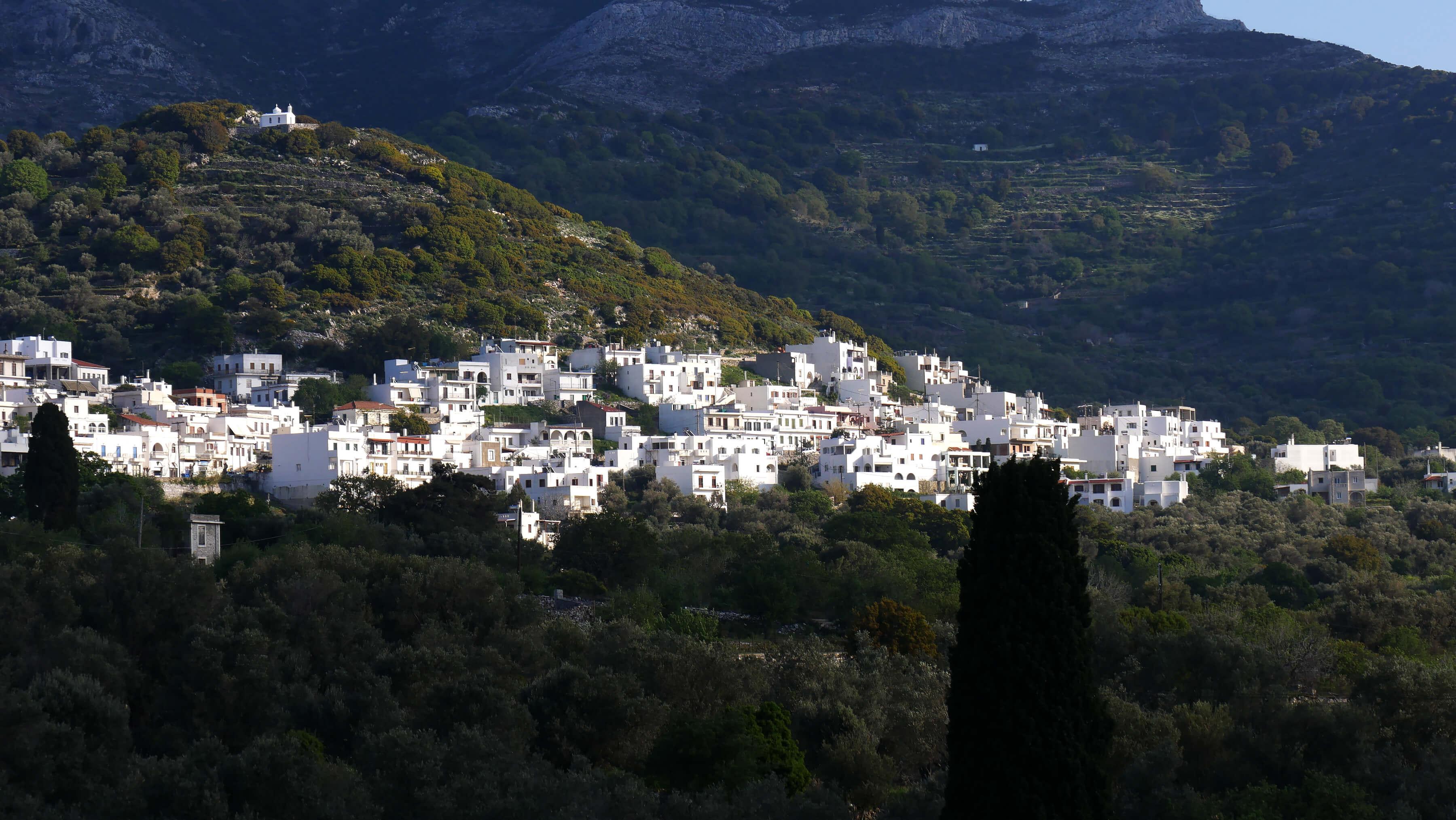 Village de Filoti, Naxos, Grèce