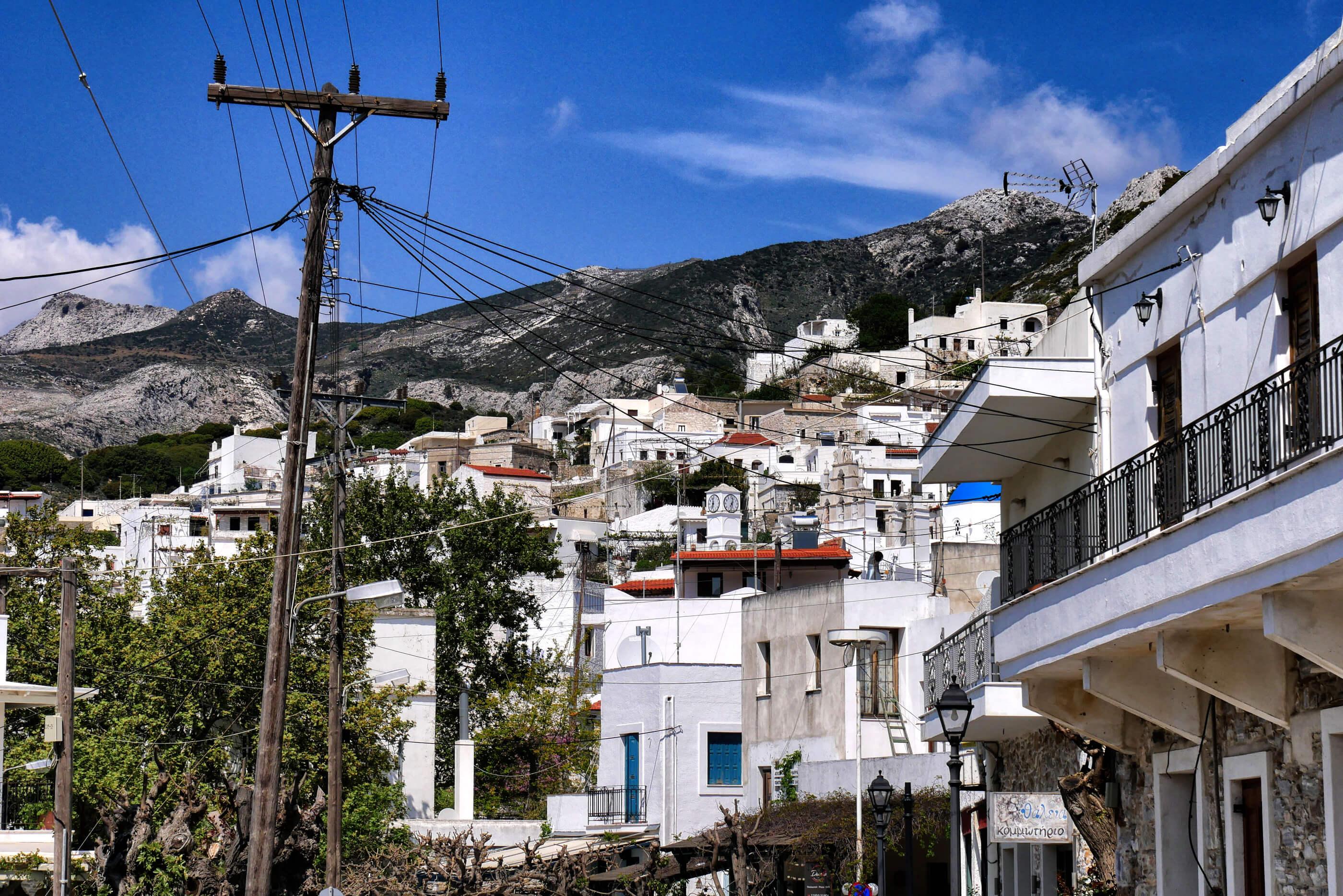 Centre du village de Filoti, Naxos, Grèce
