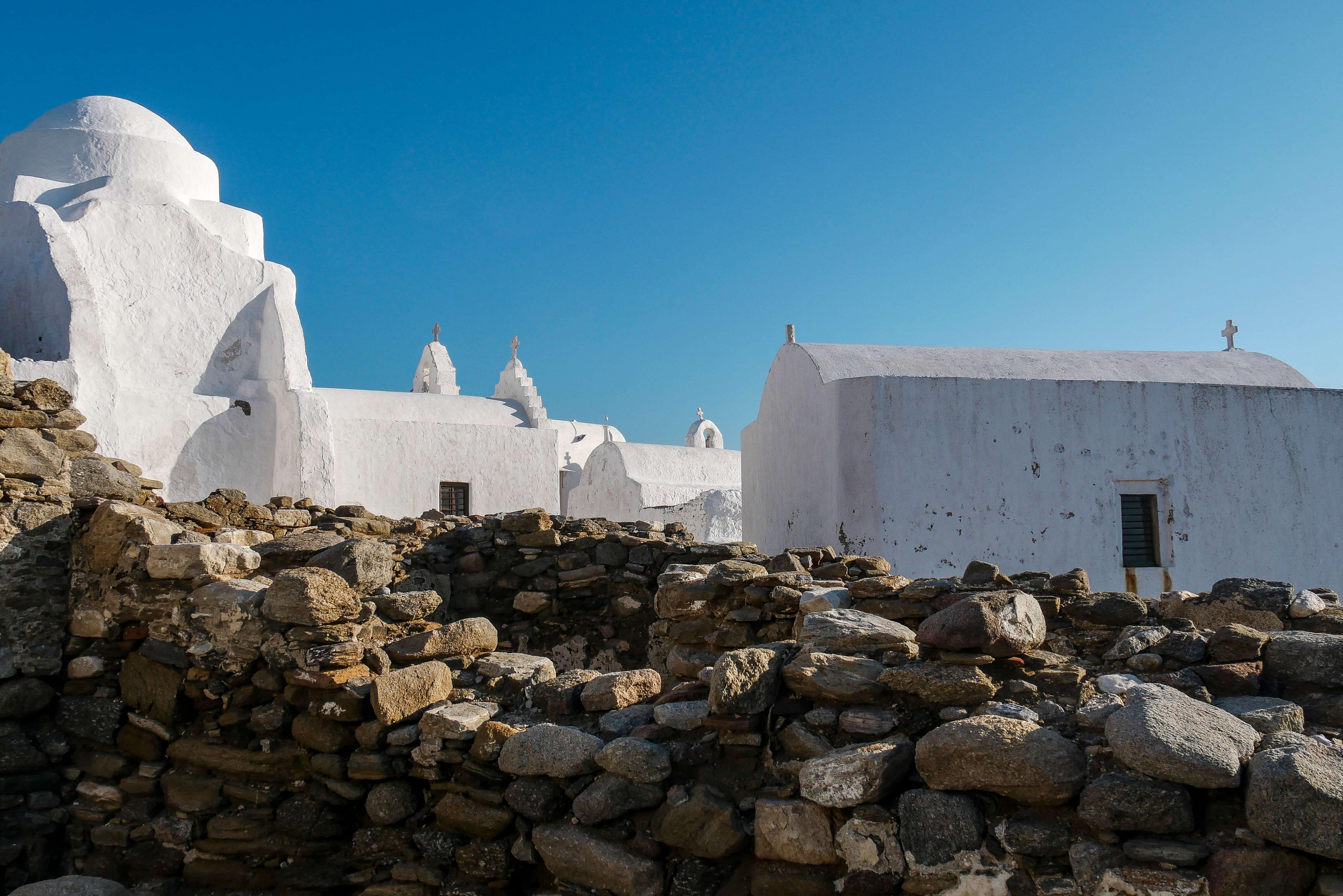 Maisons typiques des Cyclades, Mykonos, Grèce