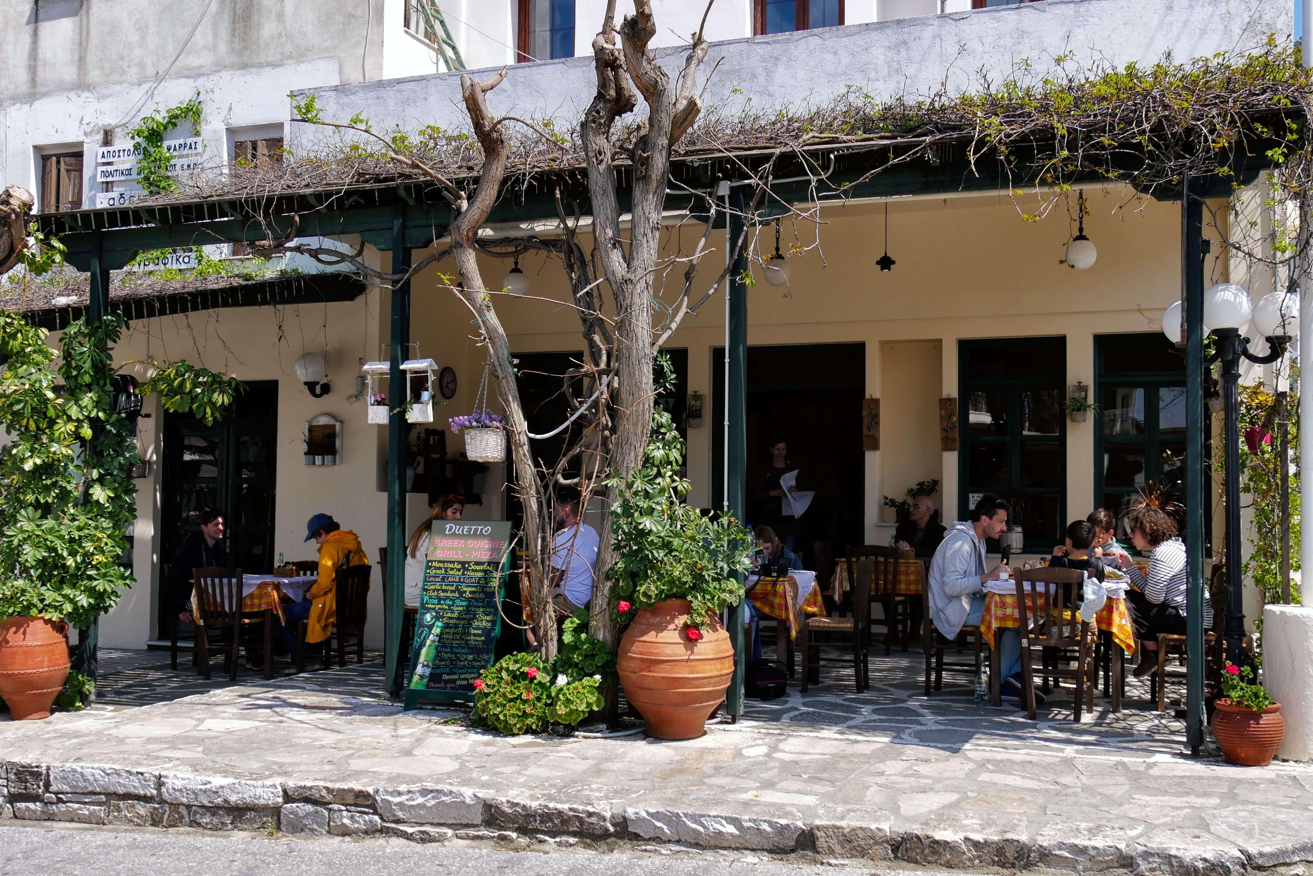 Restaurant Duetto, Filoti, Naxos, Grèce
