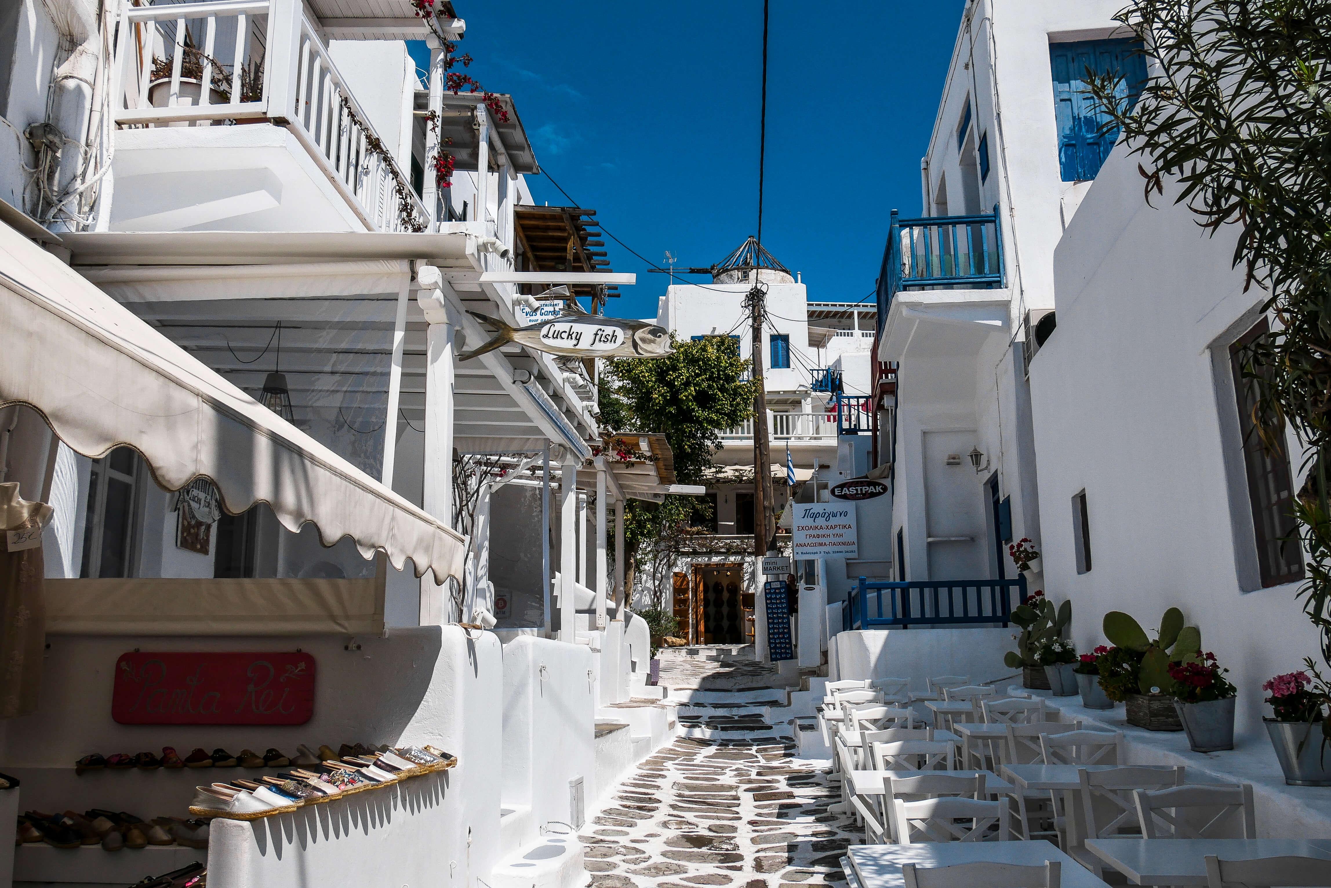 Ruelles de Chora, Mykonos, Grèce