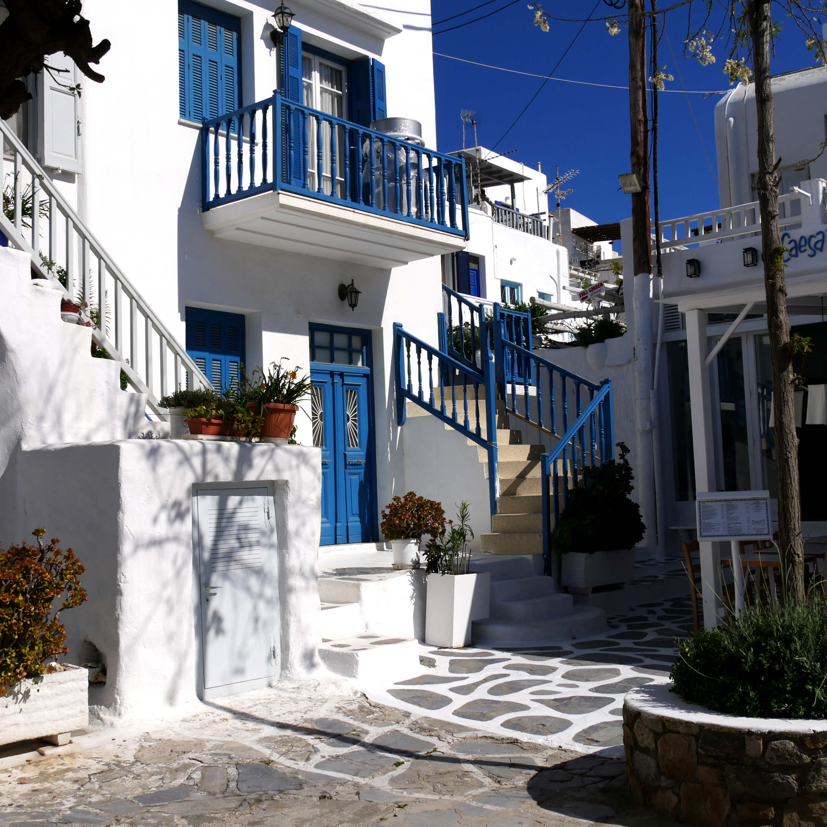 Les quartiers du centre de Chora, Mykonos