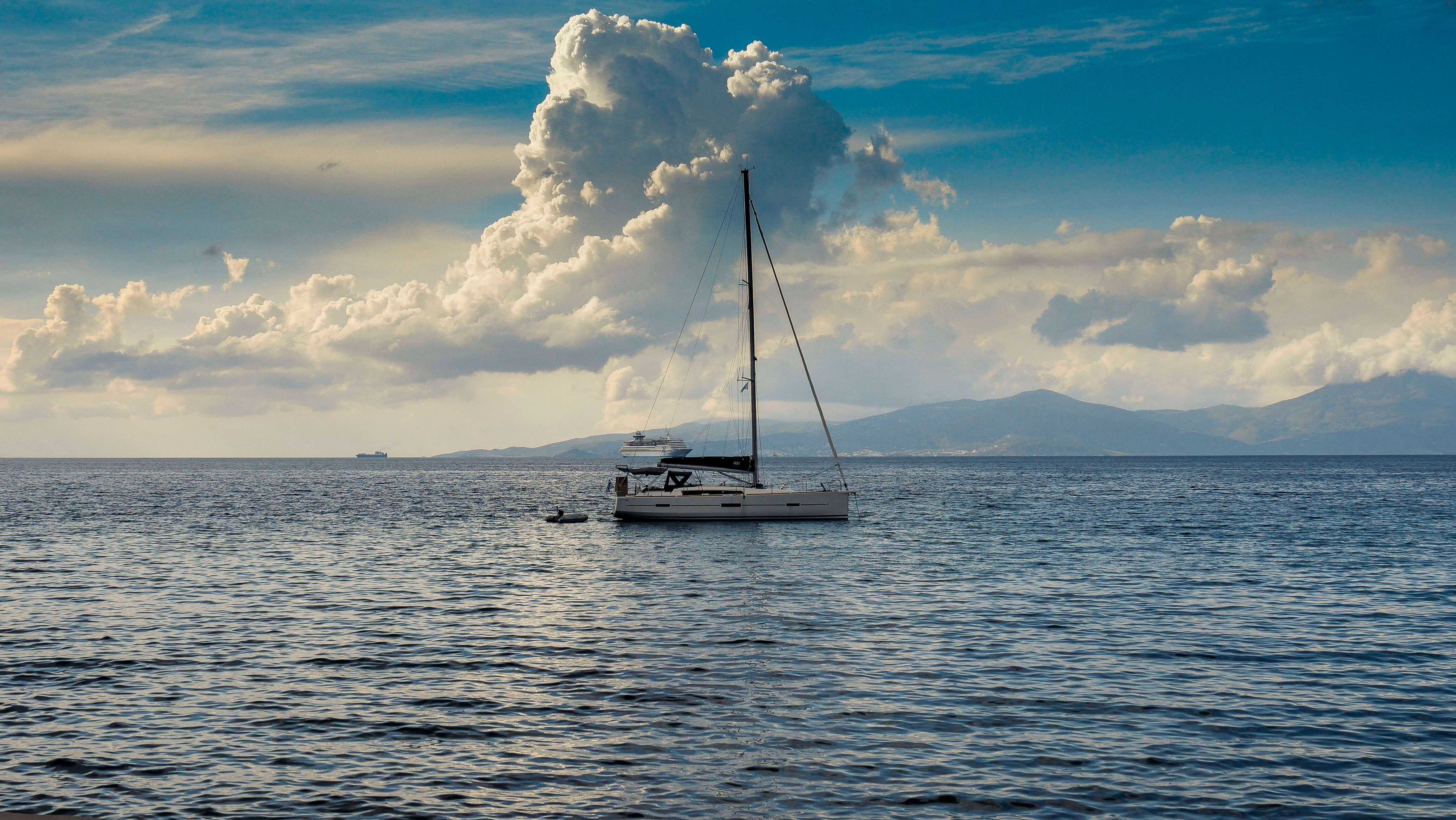 La mer Egée, Mykonos, Grèce