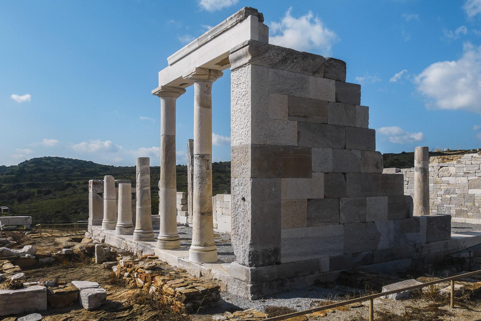 Le temple de Demeter, Naxos, Grece