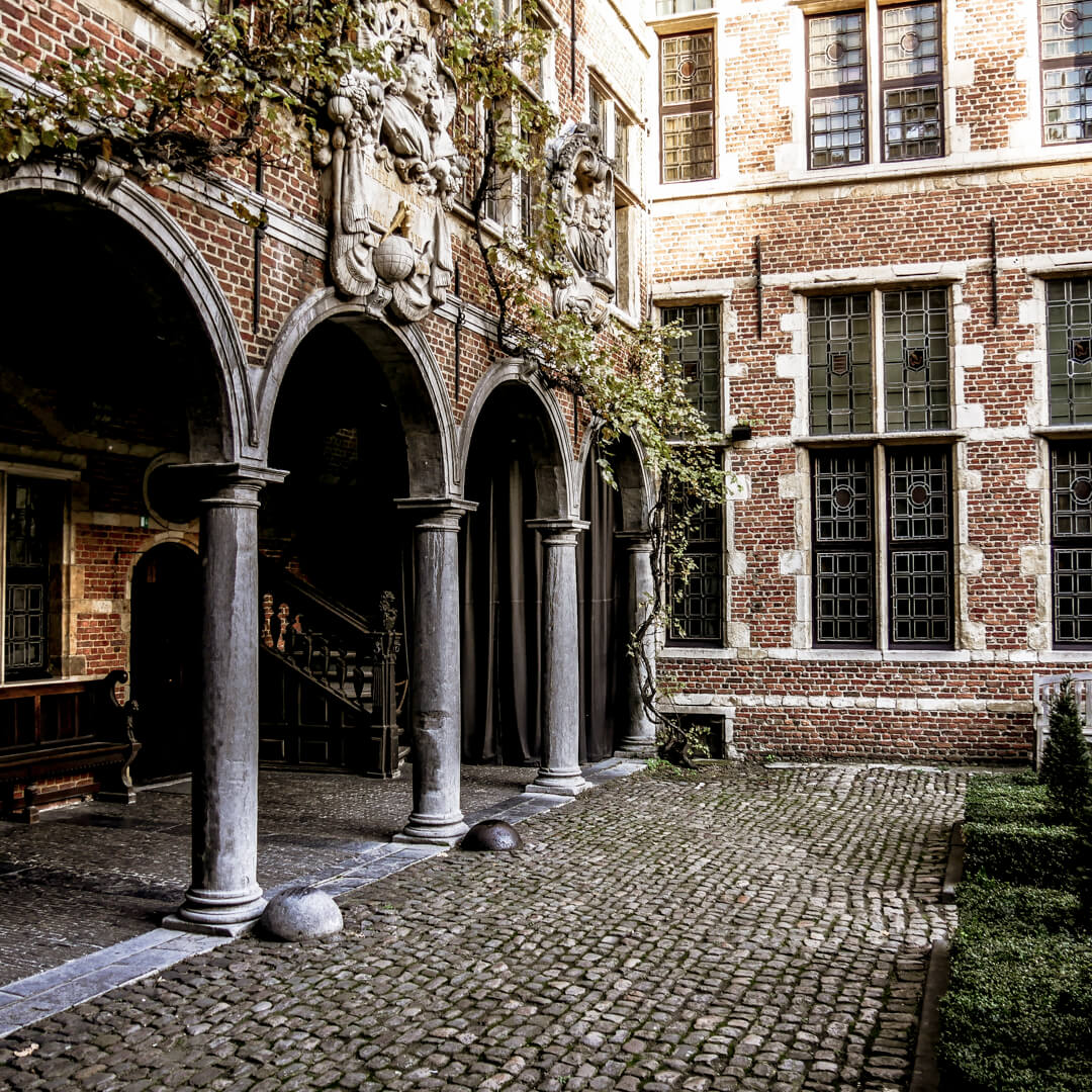 Musée Plantin Moretus : la cour intérieure