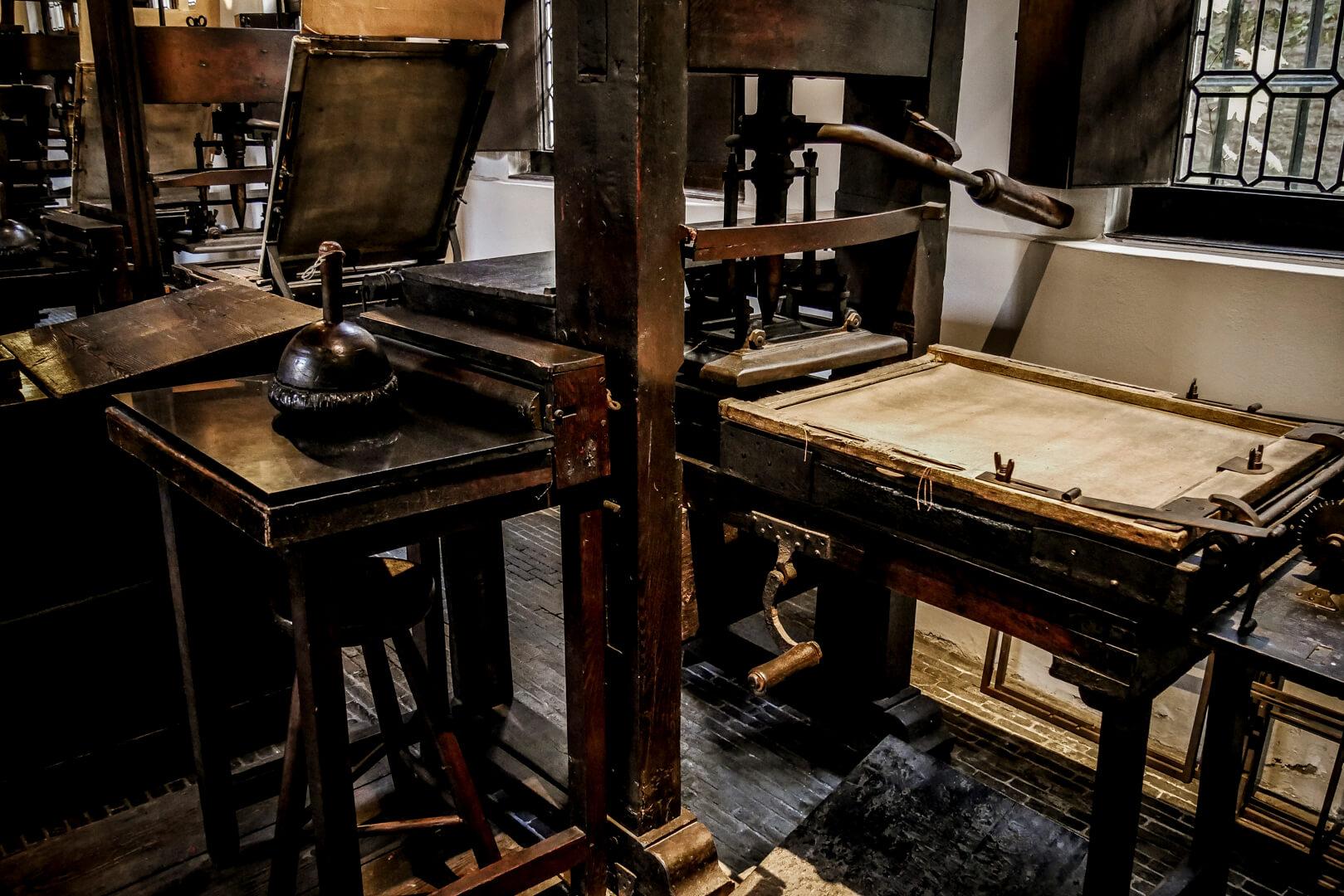 Ancienne presse du musée Plantin Moretus