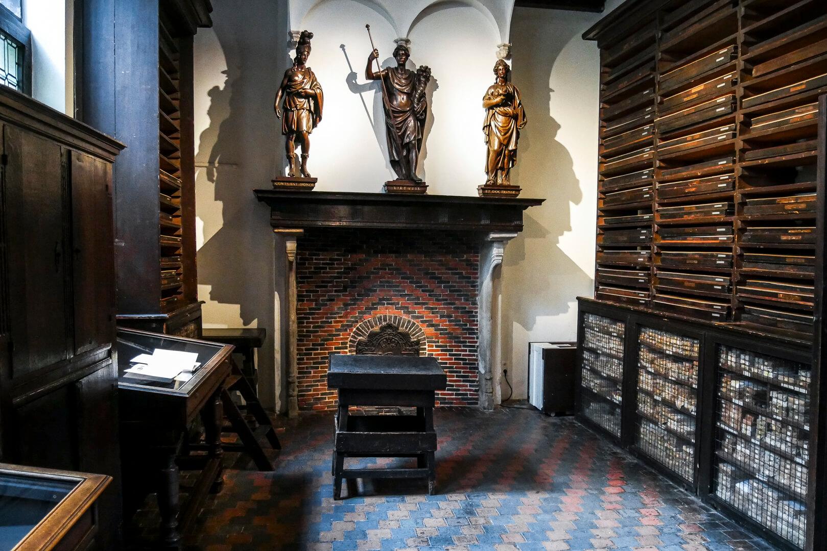 Musée Plantin Moretus : La salle des caractères