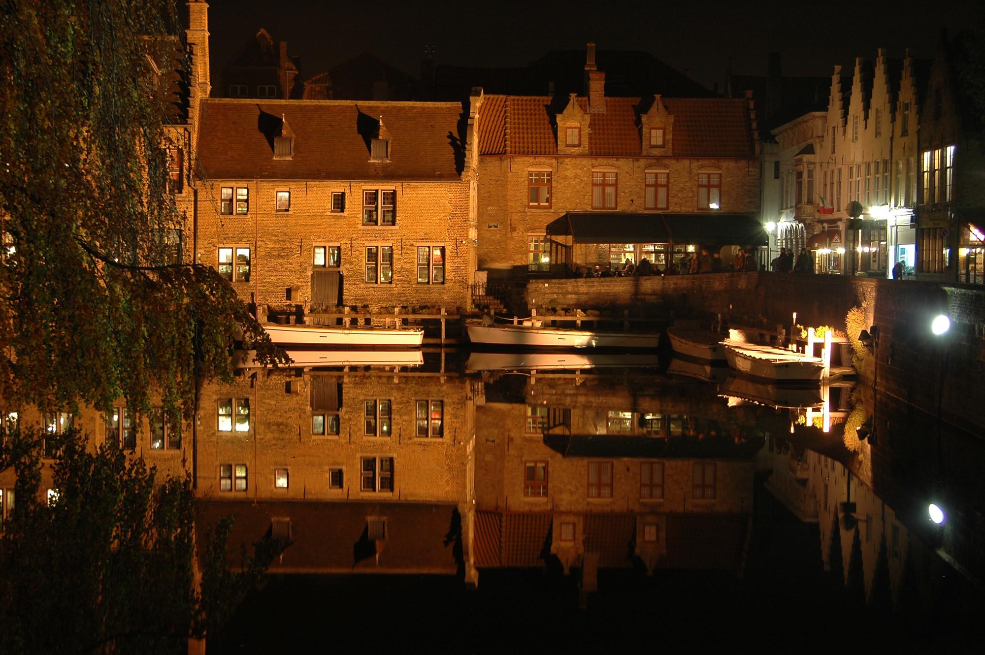 Les canaux, quartier de Dijver, Bruges