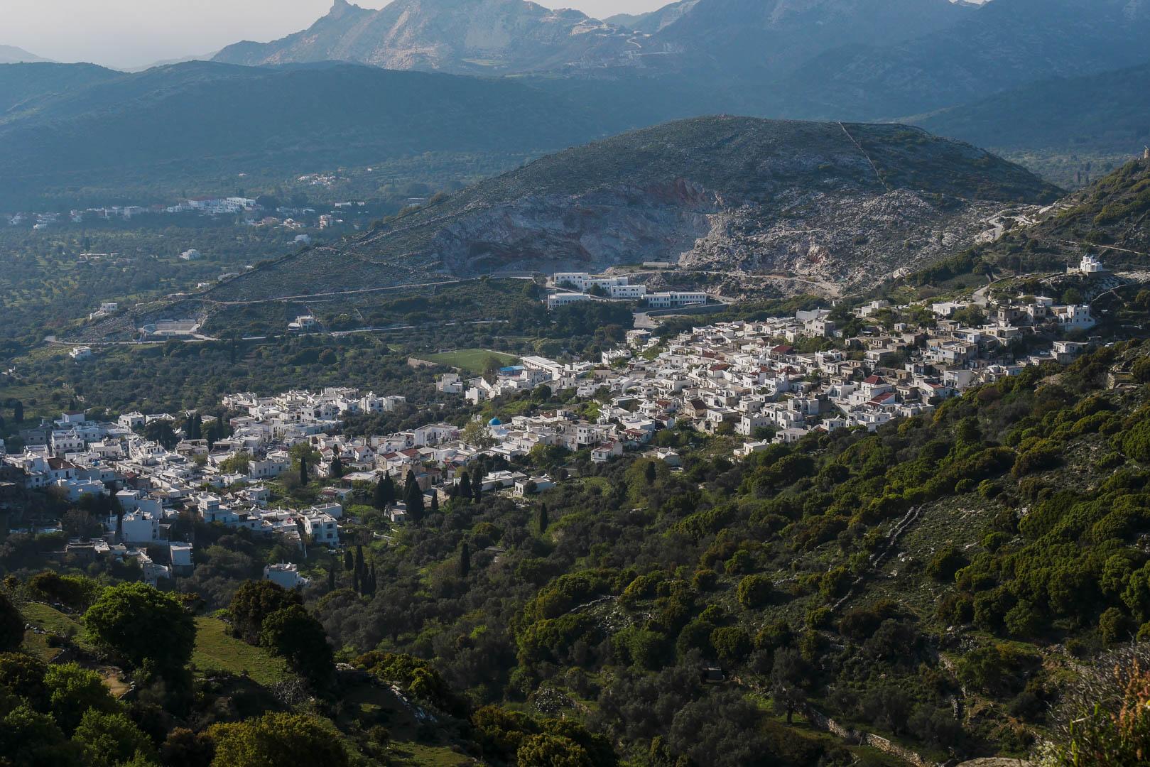 Le village de Filoti, Naxos, Grèce